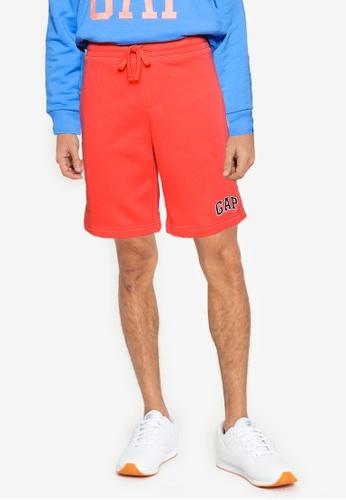 GAP orange V-New Arch Logo Shorts DC9C1AA97986A5GS_1