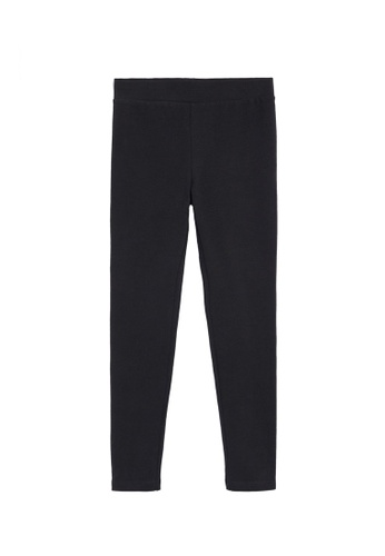 MANGO KIDS black Contrast Side Stripe Leggings 900E3KA0AB7DE3GS_1