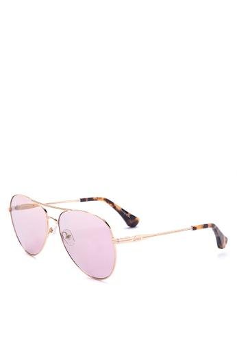 Sonix purple and gold Lodi Sunglasses 87007GL7A328B1GS_1