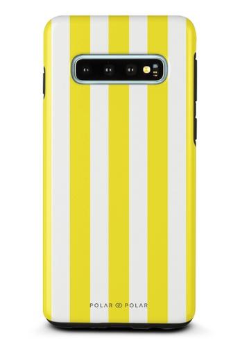 Polar Polar yellow Yellow Stripe Samsung Galaxy S10 Dual-Layer Protective Phone Case (Glossy) 0D663ACB8DD450GS_1