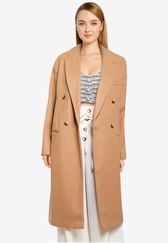 TOPSHOP brown Camel Classic Coat 9AAE0AAA769878GS_1