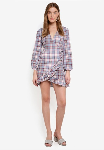 The Fifth Label multi Phonic Tartan Wrap Dress 789C3AAD63C76AGS_1