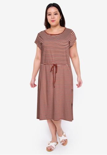 Only CARMAKOMA multi Plus Size April Life String Maxi Dress F0152AADD3B5C9GS_1