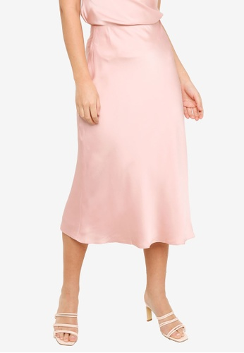 FORCAST pink FORCAST Jayla Slip Skirt 95A0BAA8A14DCFGS_1