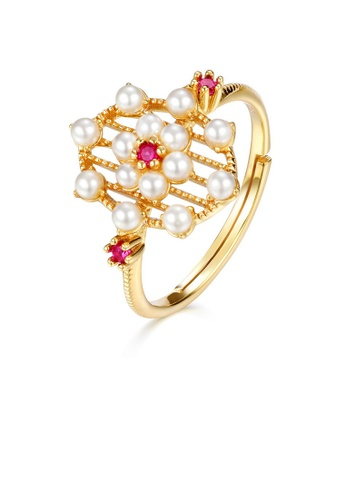 SUNSET gold Premium 925 Sliver Pearl Ring E1E90AC2A89854GS_1