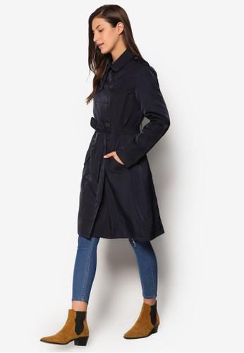 雙排鈕經典長版外套, 服飾, 夾克 esprit分店& 大衣