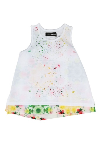 Desigual white Sleeveless Print Dress 69A1AKAA0F1402GS_1