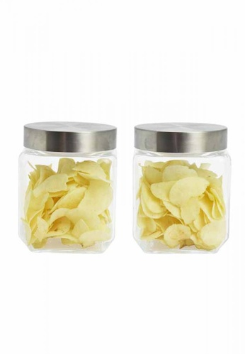 Slique n/a Premium  Glass Jar With Stainless Steel Lid   1000ml B3492HLDB51D48GS_1