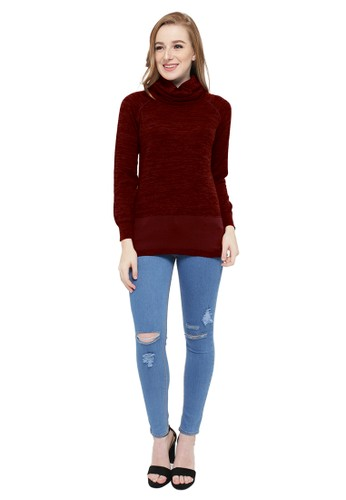 Jual Knitwork KNITWORK Twisted Red Turtle Neck Blouse ...