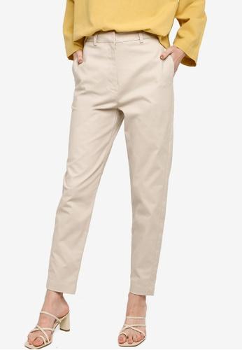 ZALIA BASICS beige Tailored Pants B2FEEAA344F42CGS_1