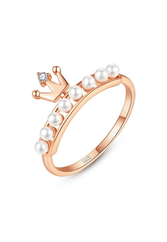 A.Excellence white Premium Rose gold Pearl Ring AB6D1ACF0A6068GS_1
