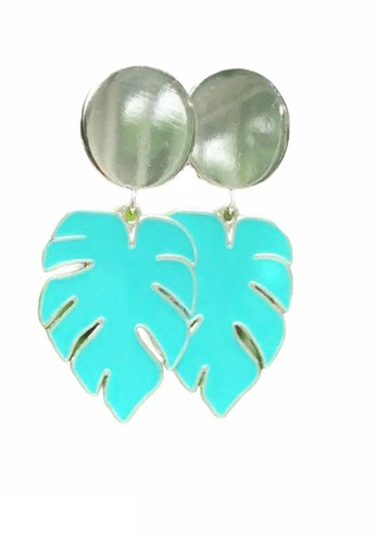 Crystal Korea Fashion silver Korean-made ladies silver needle holiday style earrings 7A753ACEBFEA8CGS_1