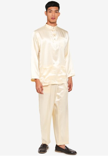 Gene Martino yellow Traditional Baju Melayu 0FE53AA685CD3CGS_1