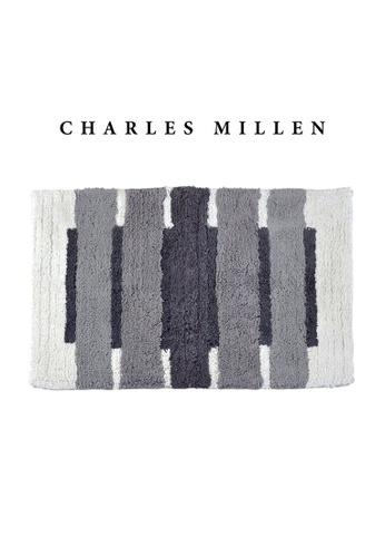 Charles Millen grey 2 Pcs Charles Millen Octave Tufted Bath Mat with Anti Slip coating 50 x 80cm/ 720g AF516HLCFB7EDFGS_1