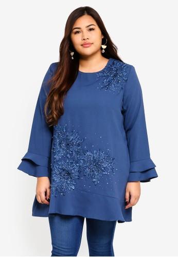 BYN blue Plus Size Muslimah Blouse BB5A8AA2E1362DGS_1