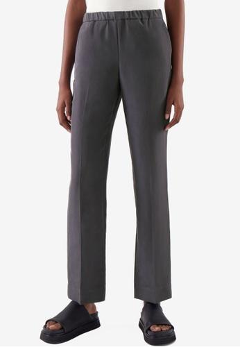 COS grey Silk Pants 2FBACAAA37DFE5GS_1
