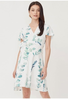 48c5ef17114df Dear Collective white FOLIAGE ZIP FRONT NURSING DRESS 0BF50AA0002A76GS_1