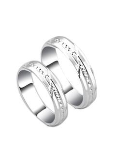Half Spin Platinum Couple ring