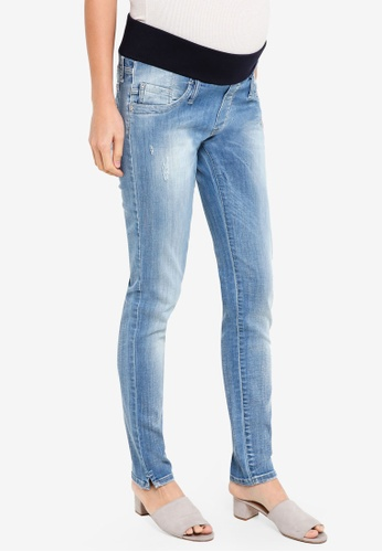 Pietro Brunelli Milano blue Under Belly Jegging Maternity Jeans 9626EAA9FC105CGS_1