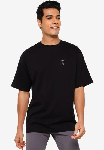 RAGEBLUE black Embroidery T-Shirt 22EB1AA71D31FEGS_1
