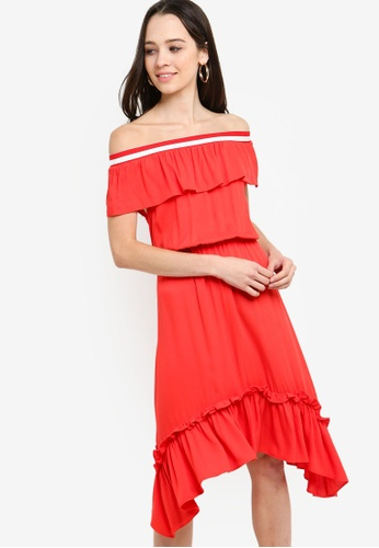 99a2467a4b10 Shop Something Borrowed Off Shoulder Midi Dress Online on ZALORA Philippines
