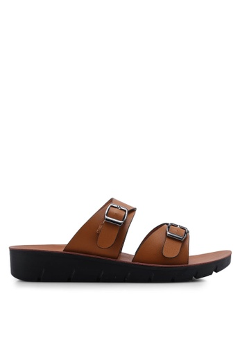 NOVENI 褐色 Casual Sandals CDFDASHB1FE9D2GS_1