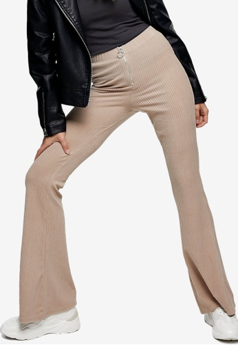 TOPSHOP multi Stone Corduroy Rib Flare Trousers A6C4AAA4D0C541GS_1