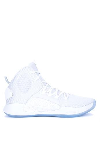 Nike white Hyperdunk X Shoes 6B989SHC45900AGS_1
