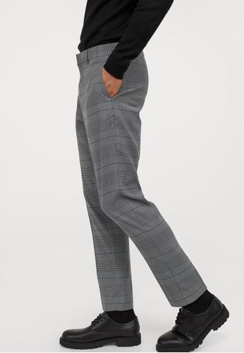 H&M brown Suit Trousers Skinny Fit 90F8AAAE8C3F6FGS_1