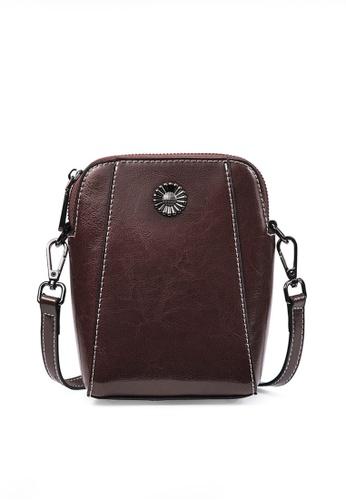 Twenty Eight Shoes brown VANSA Burnished leather Crossbody Bag VBW-Cb6656 15F68ACC4EB347GS_1