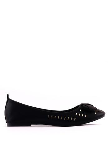 7soles black Brooke Flat Shoes 25541SH96C1417GS_1