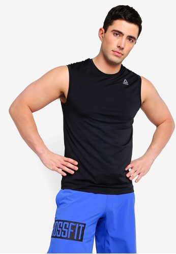 f24ce4382cf4b Reebok black Training Core Workout Ready ACTIVCHILL Sleeveless Top  18F53AAC820A3FGS 1