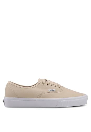 VANS beige Authentic Leather Sneakers VA142SH0SWVHMY_1