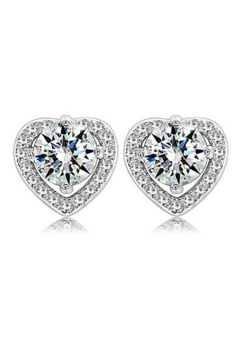 Vivere Rosse silver True Love Stud Earrings VI014AC72SKHMY_1