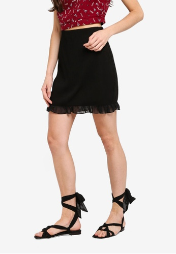 Something Borrowed black High Waist Fitted Skirt 0E6B6AA62E74EDGS_1