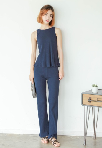 Shopsfashion blue Comfy Straight Legged Pants SH656AA22LIFSG_1