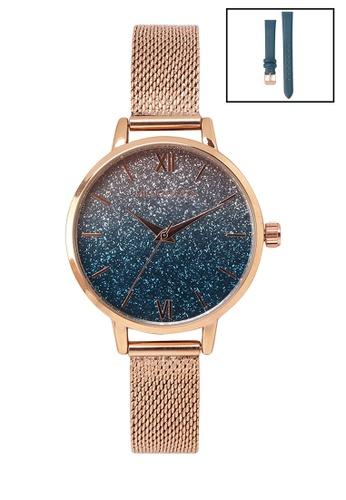 Milliot & Co. 橘色 Jacinthe 手錶 With 2 Straps 15DEDACC2A44F1GS_1