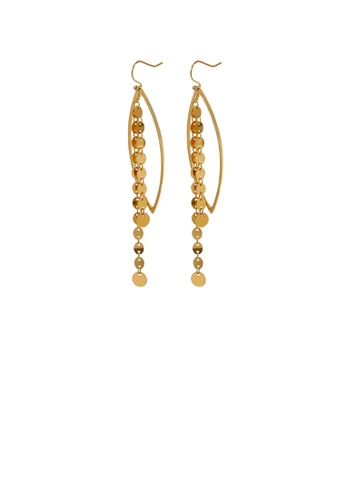 Glamorousky silver Fashion and Elegant Plated Gold Geometric Tassel 316L Stainless Steel Earrings 8D5AAAC07C3E18GS_1