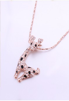 Giraffe Rose Gold Plated Necklace