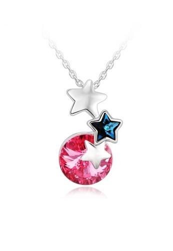 OUXI pink OUXI Beautiful Stars Necklace OU821AC17OGCMY_1
