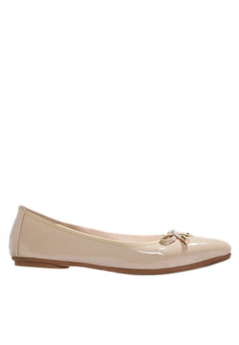 Twenty Eight Shoes beige Bow with Metal Decoration Ballerinas VL102878 68F49SHC78447EGS_1