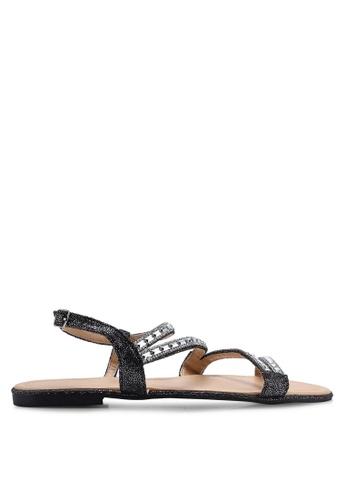Divine Factory black Cora Sandals D0280SH6F73037GS_1