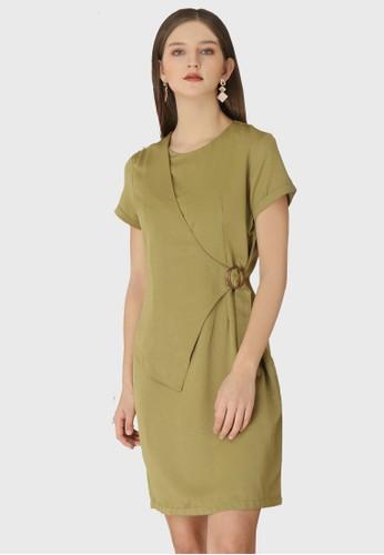 Urban Exchange green Callie Olive Dress 0A48AAACFE736FGS_1