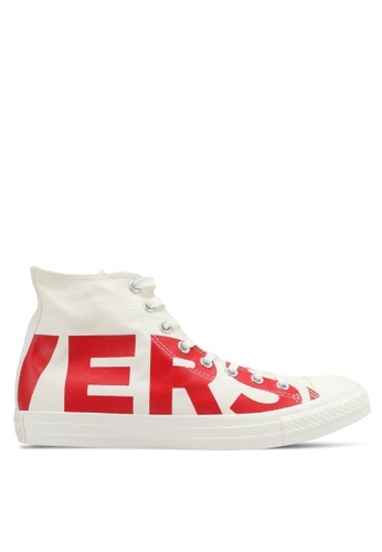Converse white and red and yellow Chuck Taylor All Star Hi Sneakers CO302SH0SW69MY_1