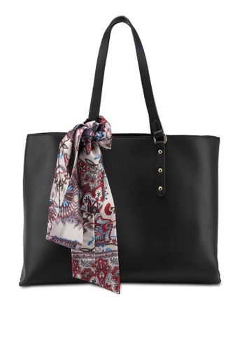 ZALORA black Easy Shopper With Detachable Scarf 08B5AACEEBBF88GS_1
