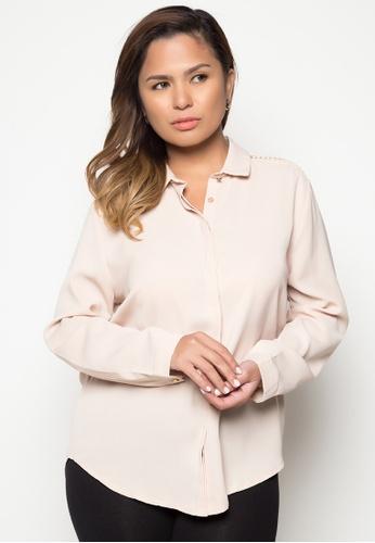 Maldita X beige Plus Size Lilo Long Sleeve Shirt MA587AA54APXPH_1