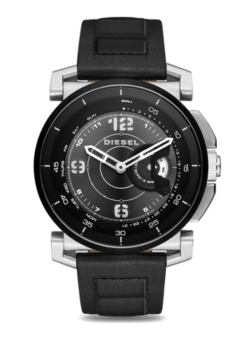 Diesel black Diesel Black Leather Hybrid Smartwatch DZT1000 DI095AC28TJZMY_1