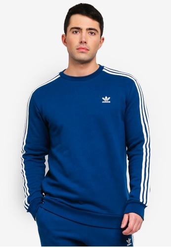 adidas blue adidas originals monogram crewneck sweatshirt 4D6ADAA152F77AGS 1 e8b4e499a