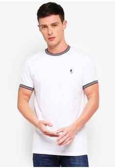 db73c4e5c7a Jack Wills white Baildon Pique Ringer T-Shirt 36416AA262B80DGS 1