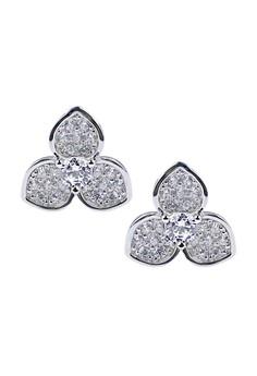 Trifoliolate Silver Earrings